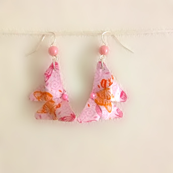 Boucle papillons rose