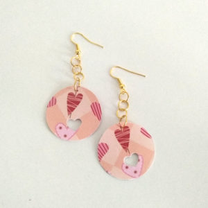 Boucles rondes roses