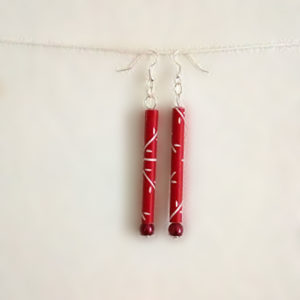 Boucles tubes rouge
